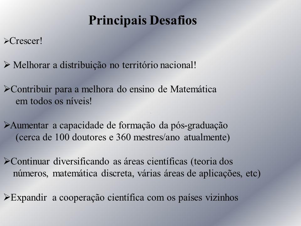Principais Desafios Melhorar a distribuição no território nacional!