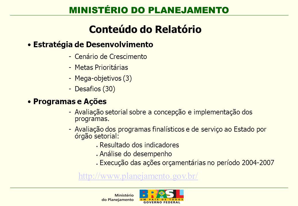 Conteúdo do Relatório http://www.planejamento.gov.br/