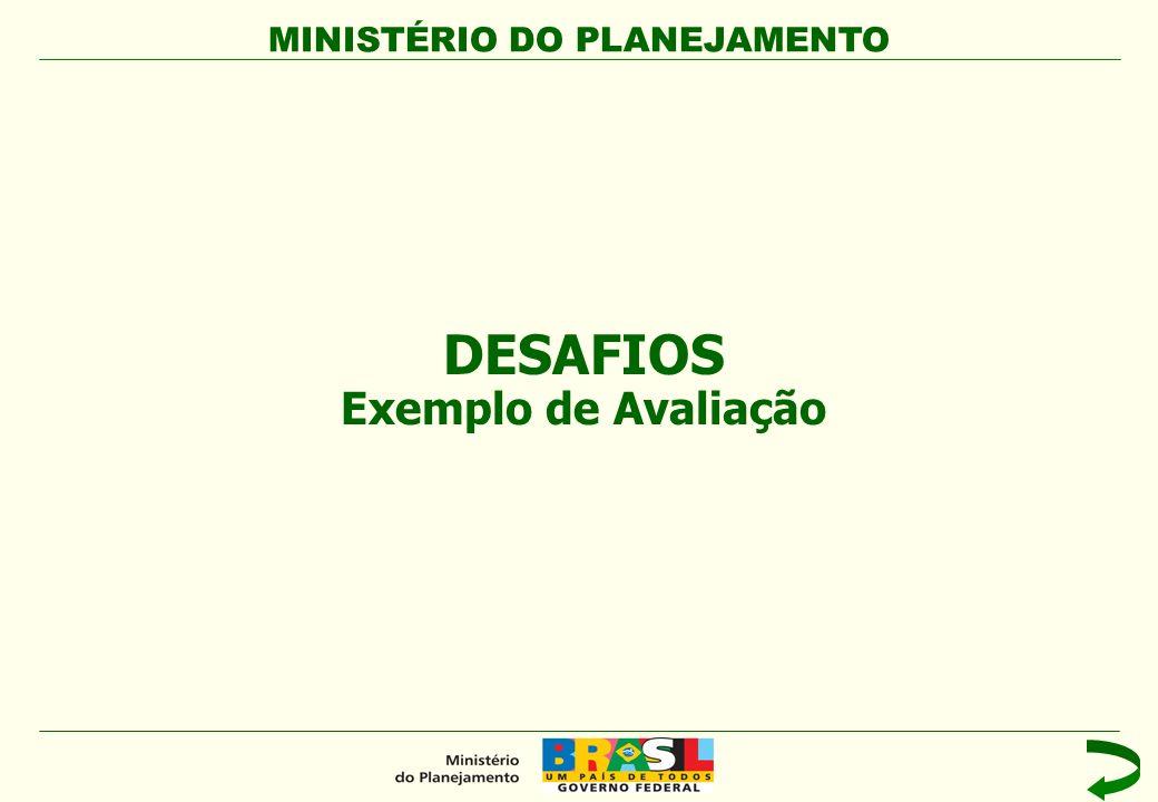 DESAFIOS Exemplo de Avaliação