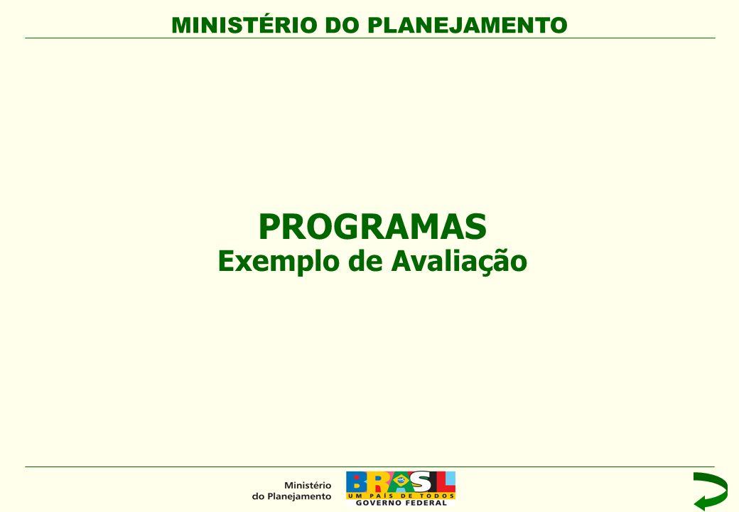 PROGRAMAS Exemplo de Avaliação