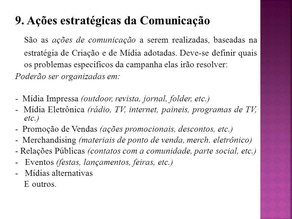 9. Ações estratégicas da Comunicação