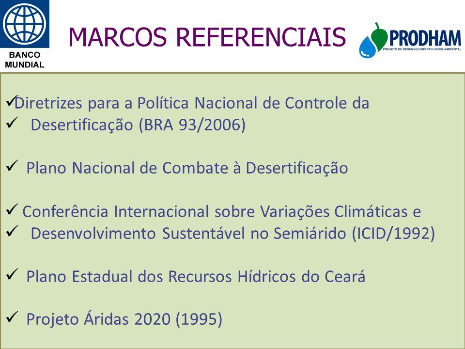 MARCOS REFERENCIAIS Diretrizes para a Política Nacional de Controle da