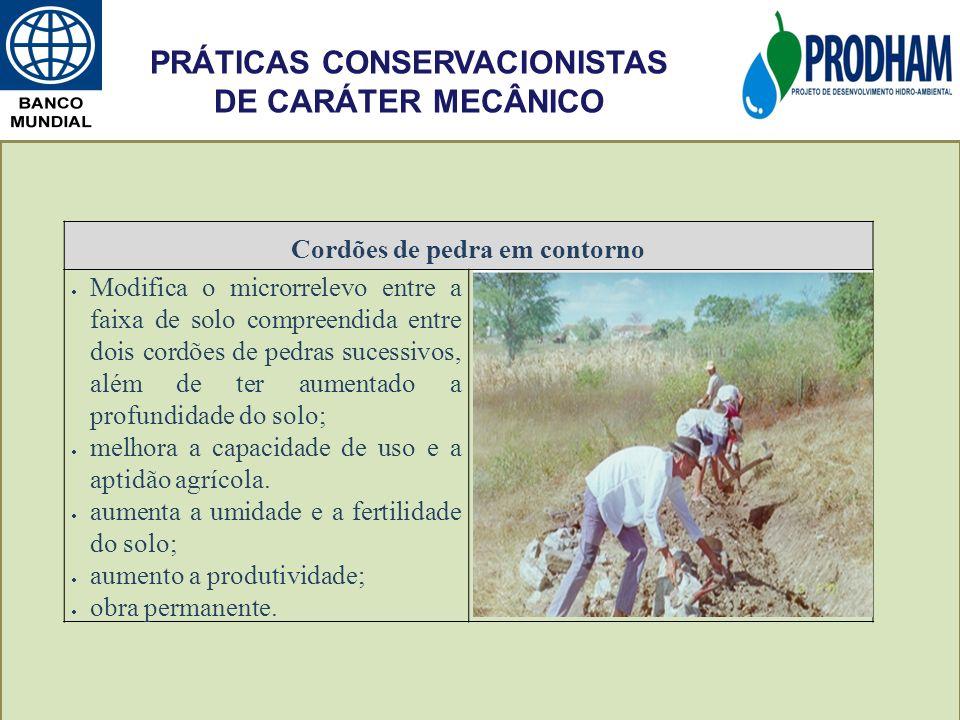 PRÁTICAS CONSERVACIONISTAS DE CARÁTER MECÂNICO