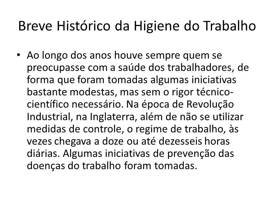 Breve Histórico da Higiene do Trabalho