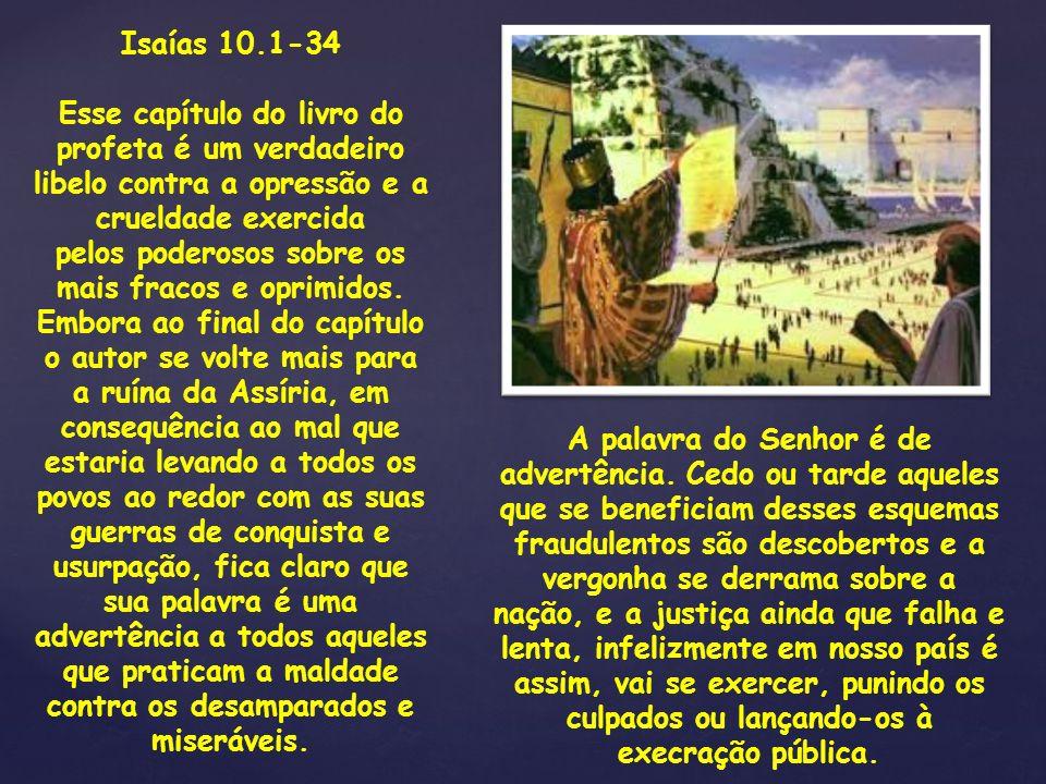 Isaías 10.1-34
