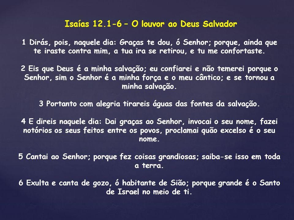 Isaías 12.1-6 – O louvor ao Deus Salvador