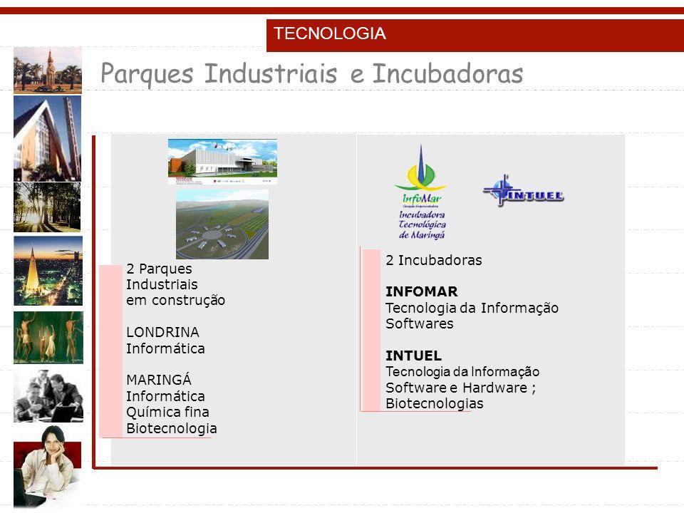 Parques Industriais e Incubadoras
