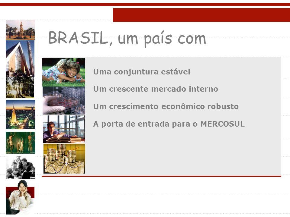 BRASIL, um país com Uma conjuntura estável