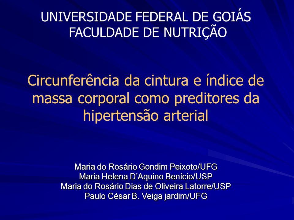 UNIVERSIDADE FEDERAL DE GOIÁS FACULDADE DE NUTRIÇÃO