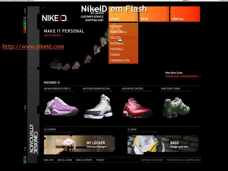 NikeID em Flash http://www.nikeid.com