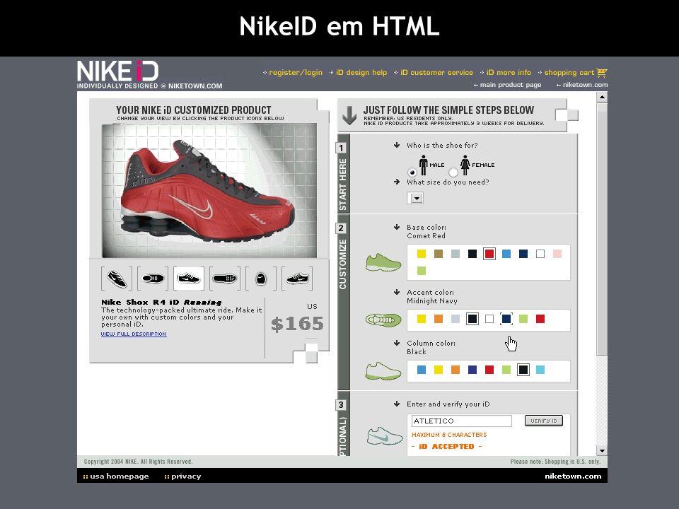 NikeID em HTML