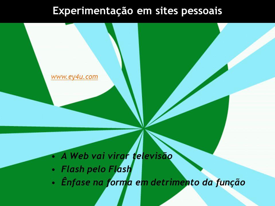 Experimentação em sites pessoais