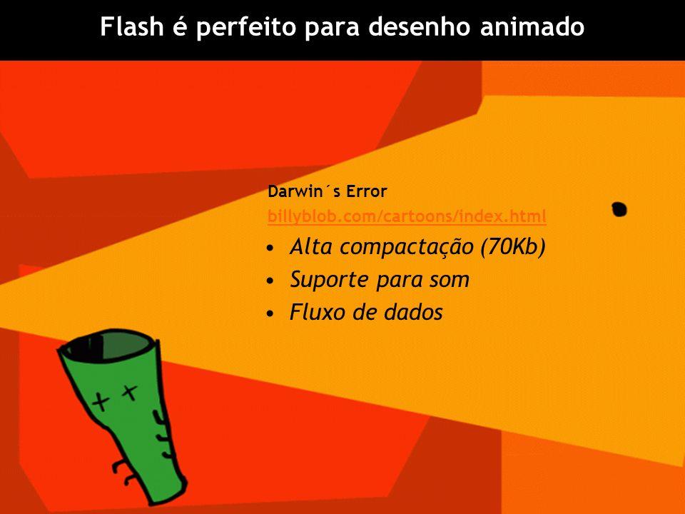 Flash é perfeito para desenho animado