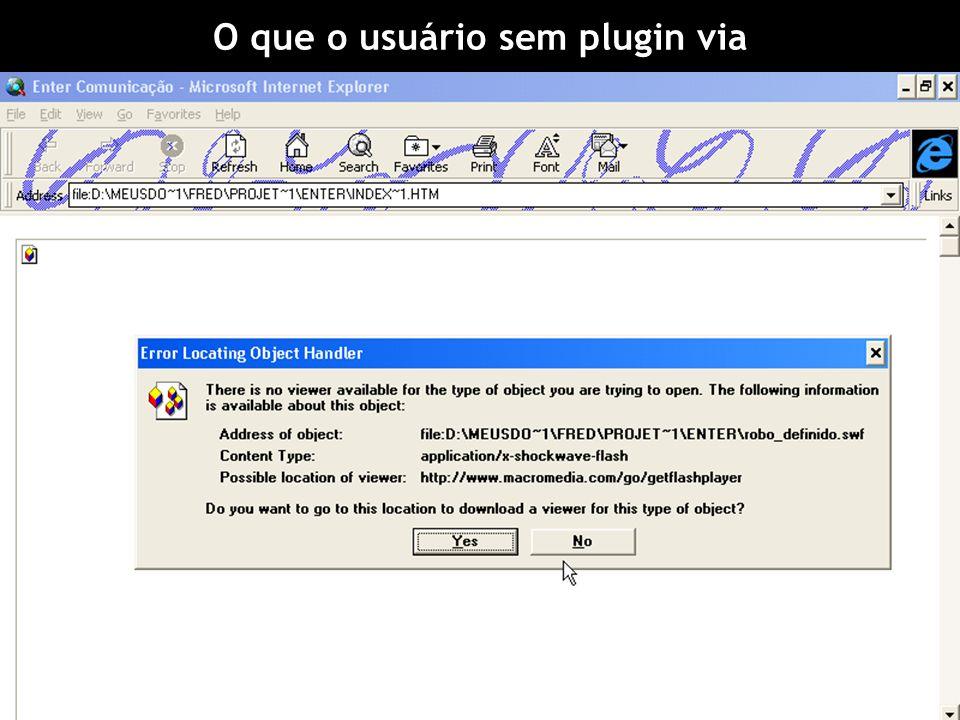 O que o usuário sem plugin via