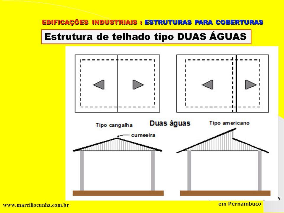 Estrutura de telhado tipo DUAS ÁGUAS