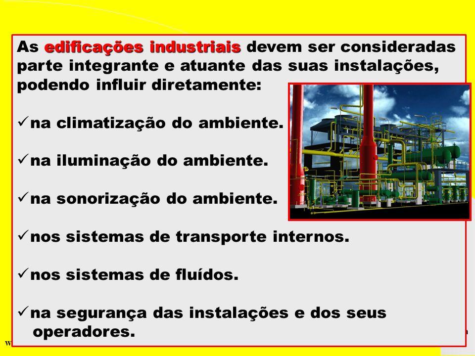 As edificações industriais devem ser consideradas