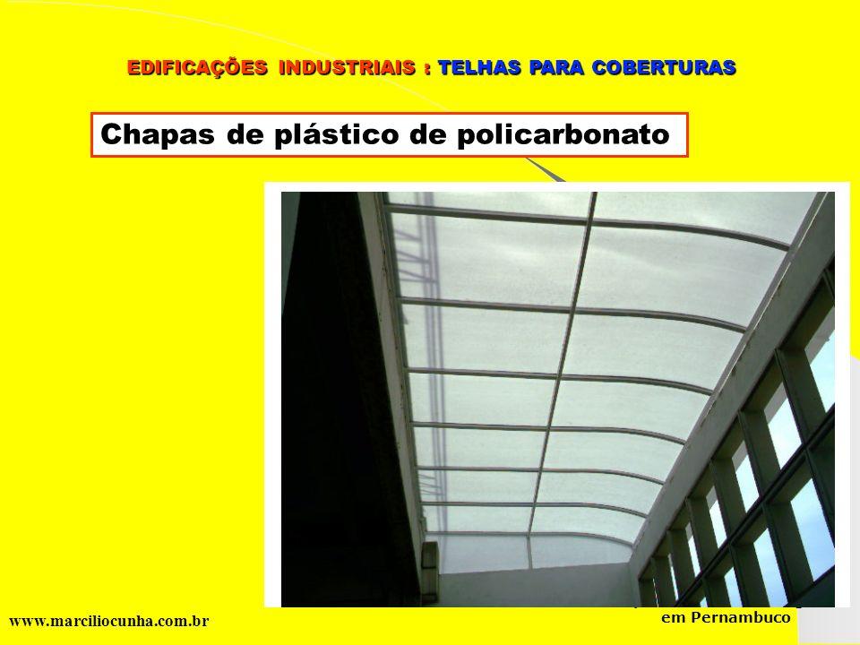 Chapas de plástico de policarbonato