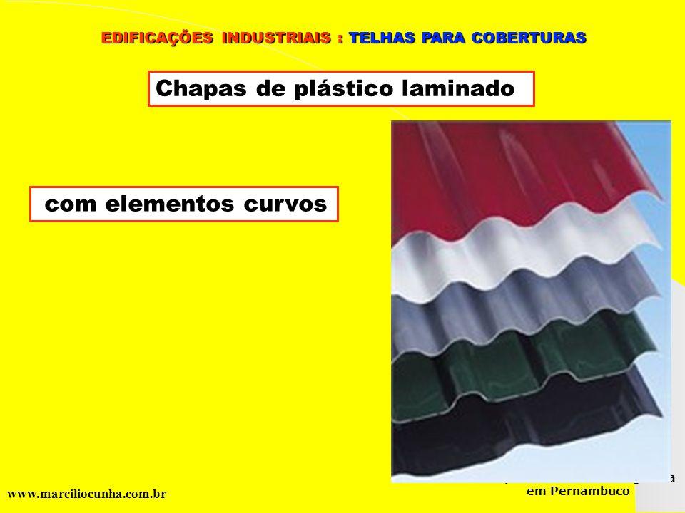 Chapas de plástico laminado