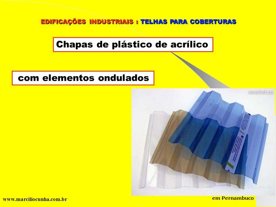 Chapas de plástico de acrílico