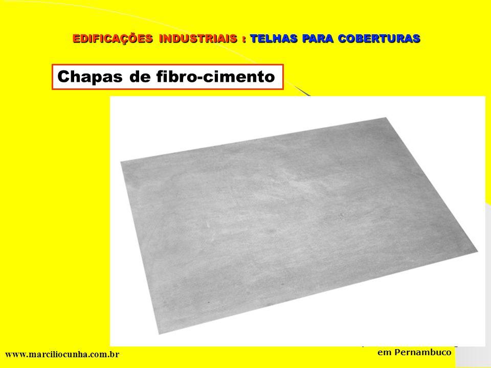 Chapas de fibro-cimento