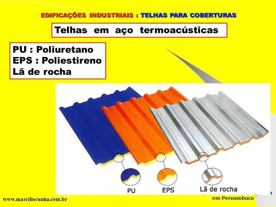 Telhas em aço termoacústicas