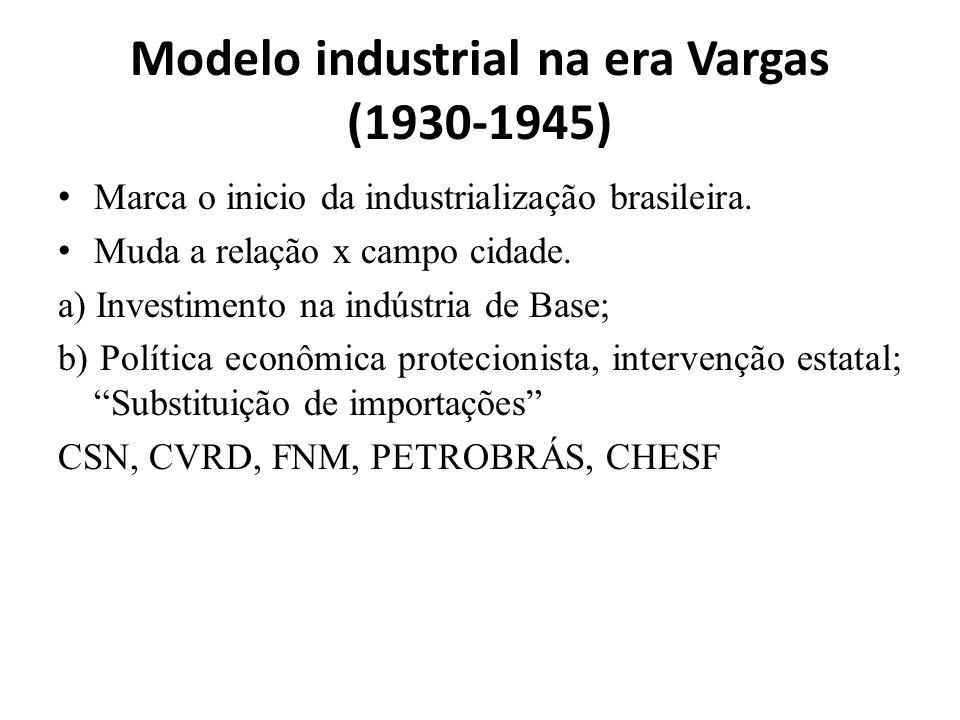 Modelo industrial na era Vargas (1930-1945)