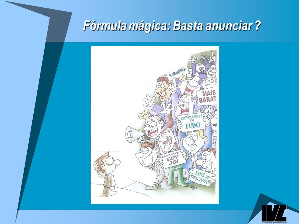 Fórmula mágica: Basta anunciar