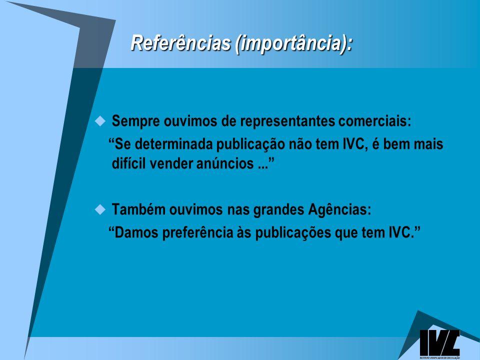 Referências (importância):