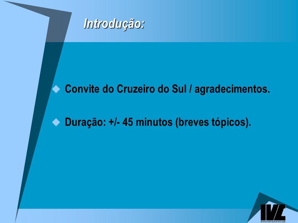 Introdução: Convite do Cruzeiro do Sul / agradecimentos.
