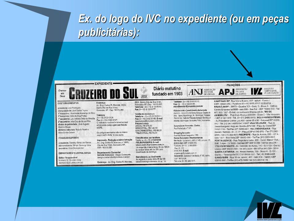 Ex. do logo do IVC no expediente (ou em peças publicitárias):