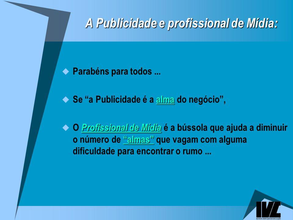 A Publicidade e profissional de Mídia: