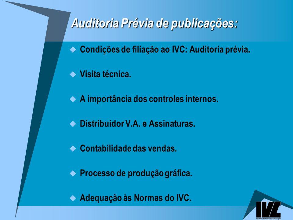 Auditoria Prévia de publicações: