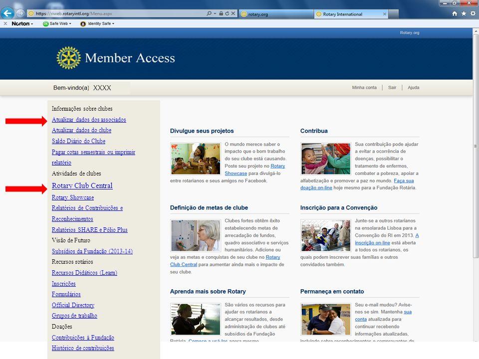Rotary Club Central XXXX Informações sobre clubes