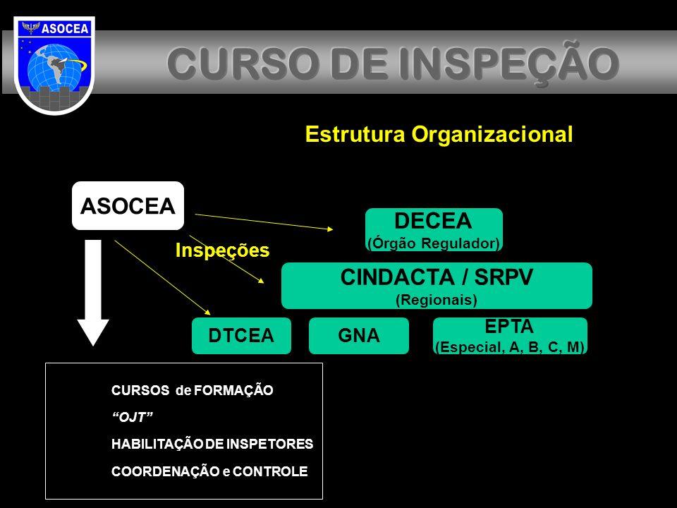 CURSO DE INSPEÇÃO CURSO DE INSPEÇÃO Estrutura Organizacional ASOCEA