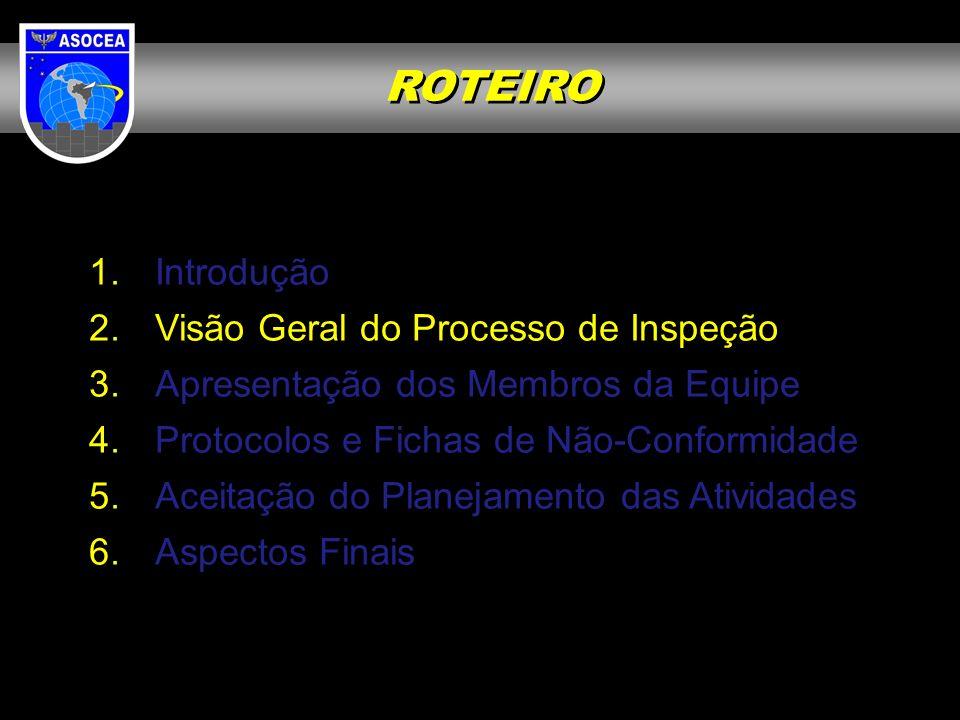 ROTEIRO Introdução Visão Geral do Processo de Inspeção
