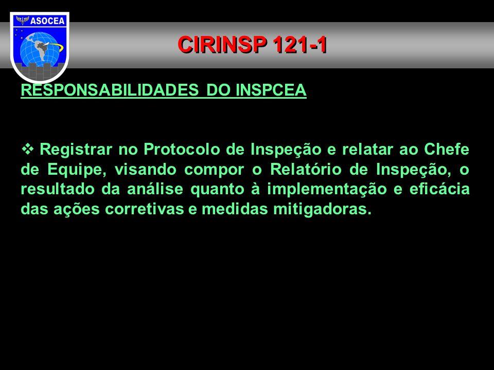 CIRINSP 121-1 RESPONSABILIDADES DO INSPCEA