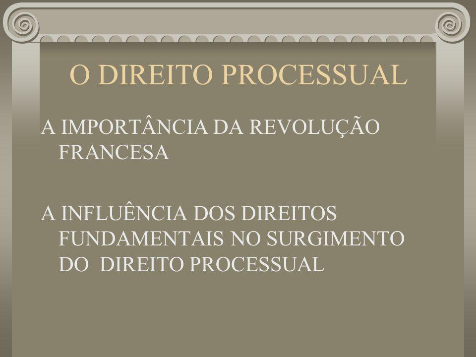 O DIREITO PROCESSUAL A IMPORTÂNCIA DA REVOLUÇÃO FRANCESA