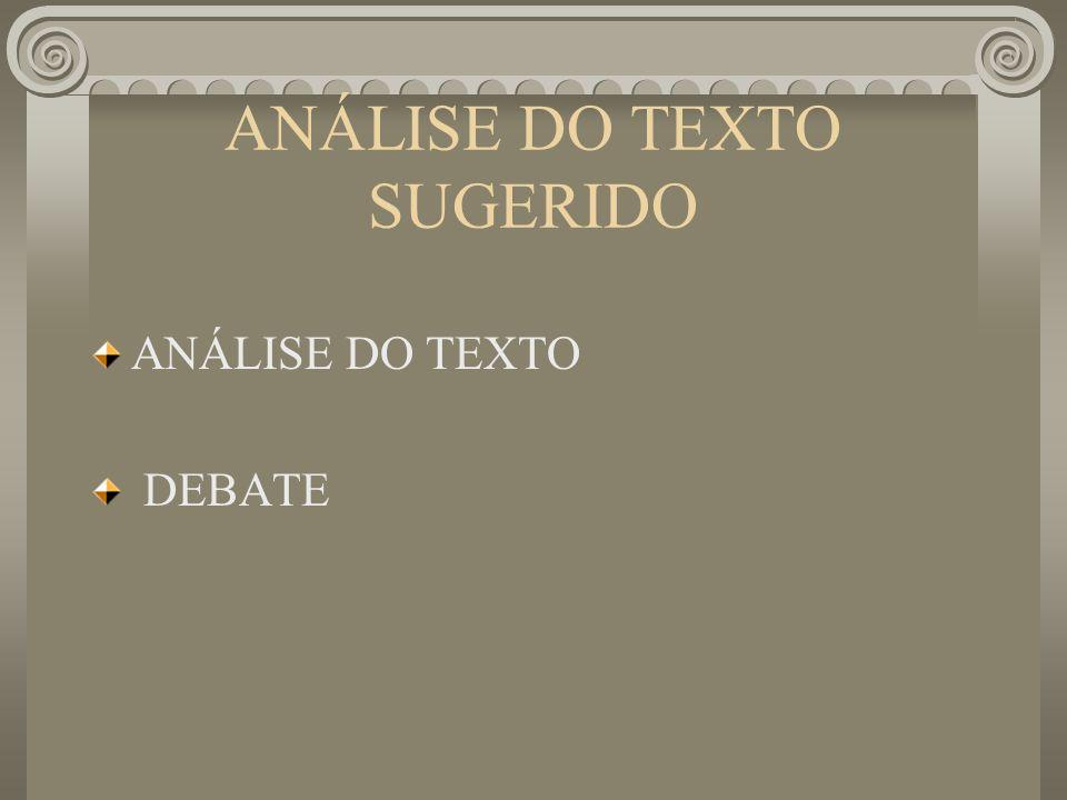 ANÁLISE DO TEXTO SUGERIDO