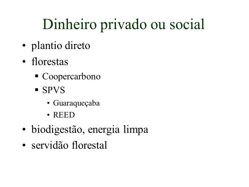 Dinheiro privado ou social