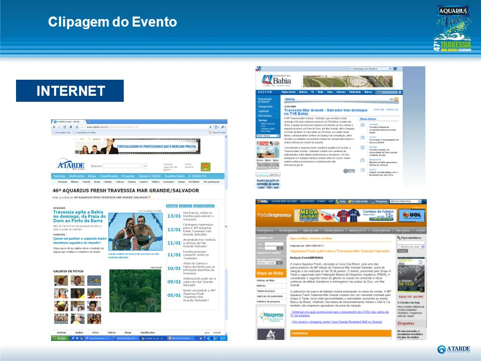 Clipagem do Evento INTERNET