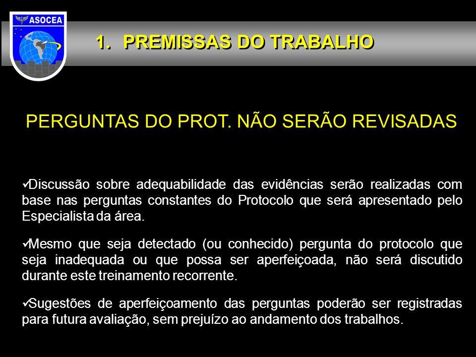PERGUNTAS DO PROT. NÃO SERÃO REVISADAS