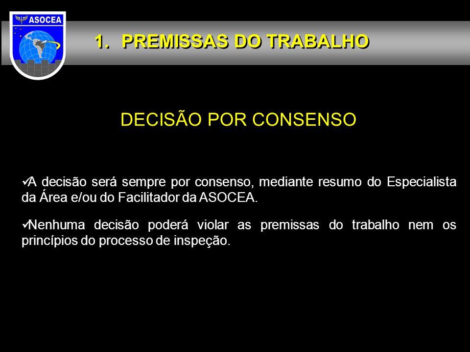 PREMISSAS DO TRABALHO DECISÃO POR CONSENSO