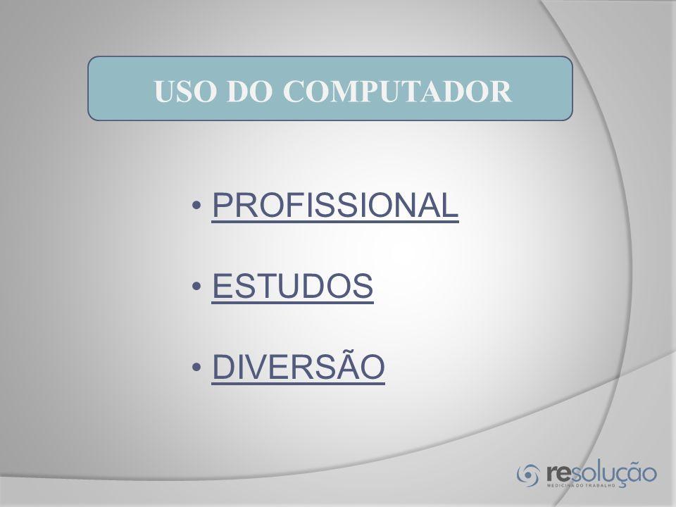 USO DO COMPUTADOR PROFISSIONAL ESTUDOS DIVERSÃO