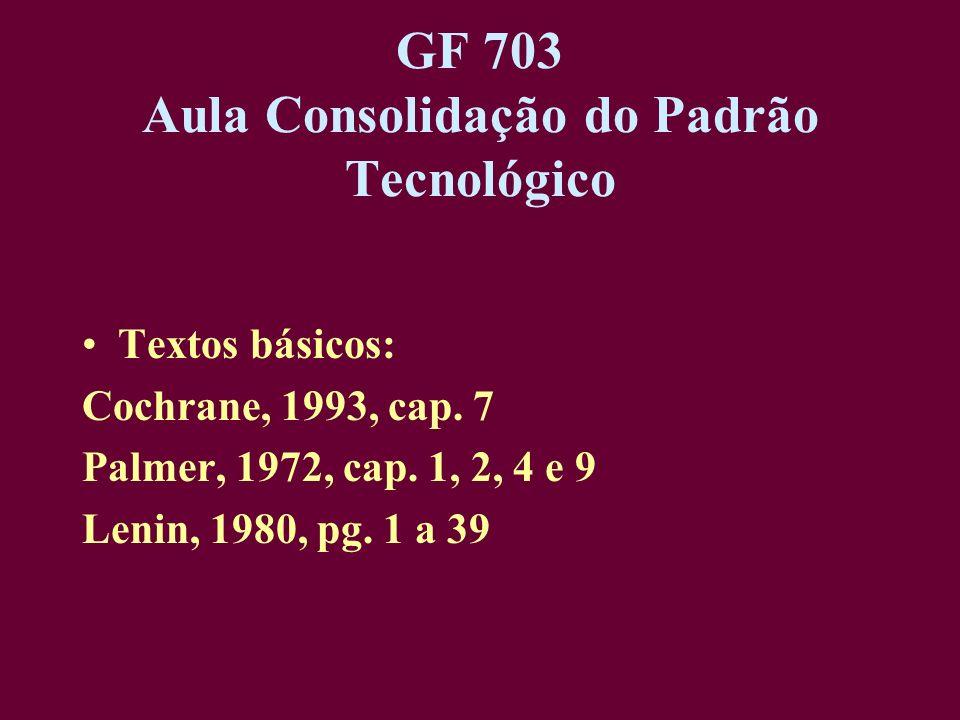 GF 703 Aula Consolidação do Padrão Tecnológico
