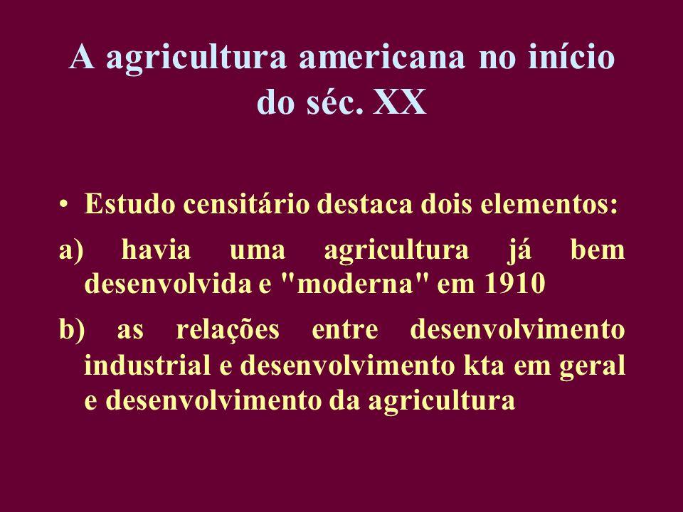 A agricultura americana no início do séc. XX