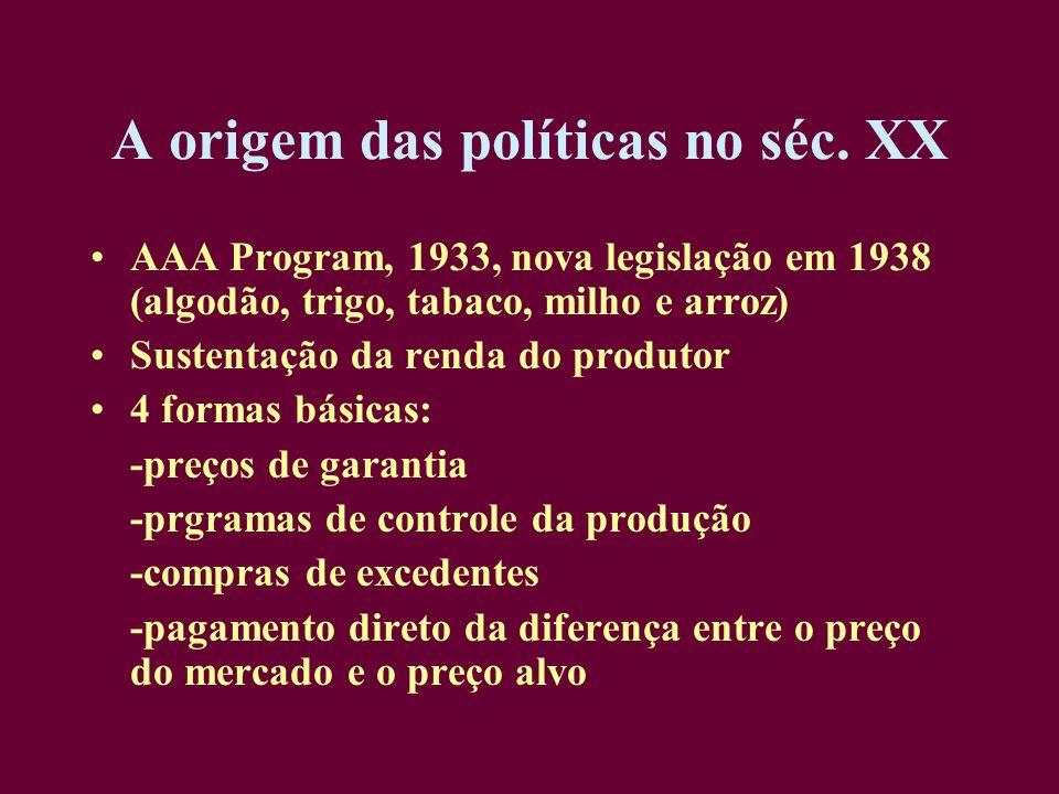 A origem das políticas no séc. XX