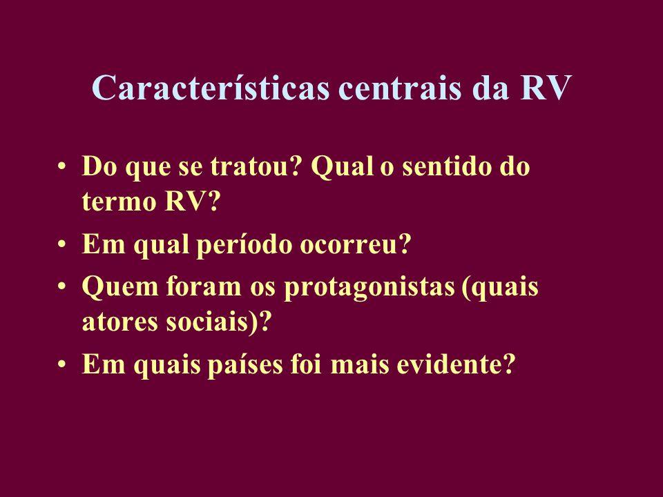 Características centrais da RV