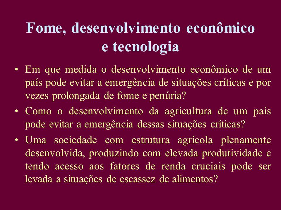 Fome, desenvolvimento econômico e tecnologia