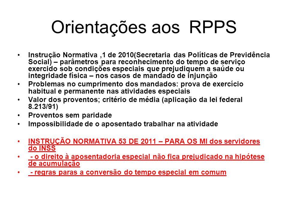 Orientações aos RPPS