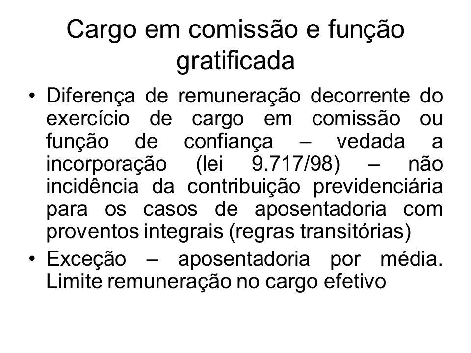 Cargo em comissão e função gratificada